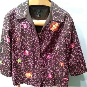 Silkland button front jacket